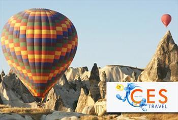 Ces Travel'dan sertifikal� pilotlar e�li�inde Peri bacalar� ve Kapadokya'n�n e�siz g�zelli�ini 1 saatlik balonla u�u� keyfi ki�i ba�� 425 TL yerine...