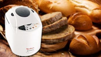 Elinizin hamuruyla birbirinden leziz ekmekler yap�n! Moulinex OW5020 Home Bread Ekmek Yapma Makinesi 329 TL yerine %22 grupfoni indirimiyle sadece...
