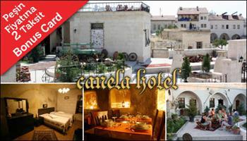 G�zel Atlar �lkesi'nde keyifli bir tatil! Kapadokya Canela Hotel'de 2 Ki�i 1 Gece Suit Odalarda Konaklama, A��k B�fe Sabah Kahvalt�s�, Odaya �arap ve...