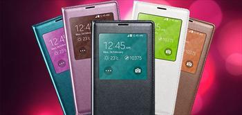 Samsung Galaxy S3, S4, S5 Serileri ��in Uyku Modlu Flip Cover!