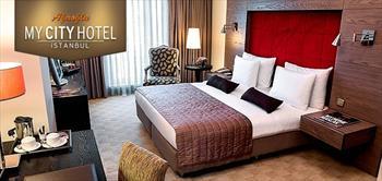 �mraniye A�ao�lu My City Hotel'de 2 Ki�ilik Konaklama!
