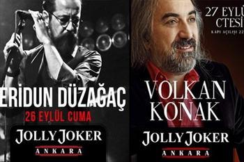 Feridun D�za�a� ve Volkan Konak Jolly Joker Ankara'da, Biletiniz 17 TL'den Ba�layan Fiyatlarla