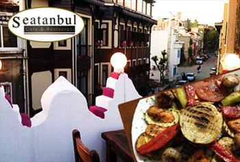 Sultanahmet Seatanbul Cafe & Restaurant'tan, Bo�aza Kar�� Tek Ki�ilik Alkoll� Yemek Men�s� 21.50 TL!