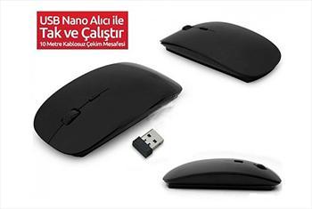 USB Nano Al�c� ile Tak �al��t�r 2.4 Ghz Kablosuz Mouse 39,90 TL Yerine 18,50 TL!