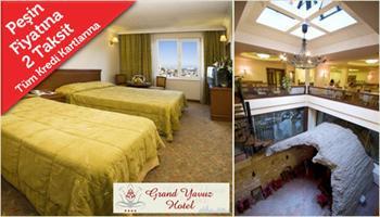 Sultanahmet Grand Yavuz Hotel'de 2 Ki�i 1 Gece Konaklama, Kahvalt�, Roof Restaurant'ta Ak�am Yeme�i, Hamam, Sauna ve Jakuzi Kullan�m� f�rsatlar� 119...