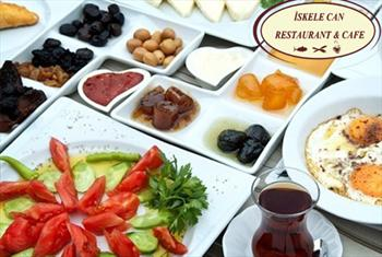 Sar�yer �skele Can Restoran'da Bo�aza Kar�� SINIRSIZ �AY E�li�inde 2 Ki�ilik Serpme Kahvalt� Keyfi 70 TL Yerine Sadece 44,90 TL!