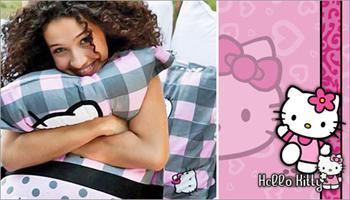 Hello Kitty ile yatak odalar�n�za ne�e kat�n! Hello Kitty 2'li Yast�k K�l�flar� 25 TL yerine %49 grupfoni f�rsat�yla sadece 12,90 TL!