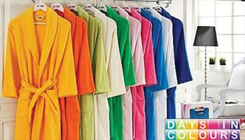 Rengarenk Modelleriyle %100 Pamuklu Days in Colours Bornozlar 100 TL yerine %51 grupfoni indirimiyle sadece 49 TL!