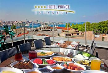 Tarihi Yar�mada'n�n B�y�leyici Atmosferinde Kahvalt� Keyfi! Sirkeci Hotel Prince �stanbul'un Teras�nda S�n�rs�z �ay E�li�inde Serpme Kahvalt� 24.90...