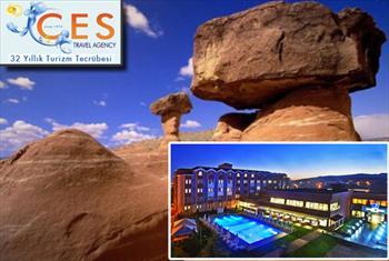 Ces Travel'den 5 y�ld�zl� Crystal SPA & Otel'de 2 g�nl�k Kapadokya turu , yar�m pansiyon konaklamal�, ula��m, rehberlik dahil 400 TL yerine 199 TL!