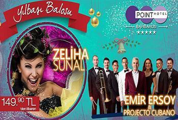 5* Point Hotel Barbaros Diamond Balo Salonu'nda Zeliha Sunal,Emir Ersoy & Projecto Cubano ile Canl� M�zik E�li�inde Y�lba�� Yemek Men�s� 149,90...