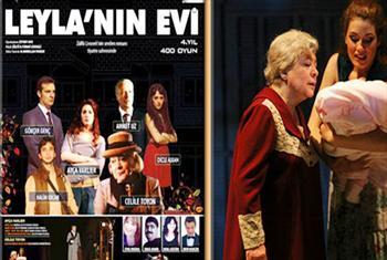 �zmir A.K.M.'de Z�lf� Livaneli'nin ses getiren roman�ndan uyarlanan Leyla'n�n Evi oyununa biletler 56,50 TL yerine 29,90 TL!