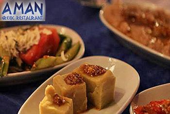 Aman Greek Restaurant'tan Fas�l - T�rk ve Yunan M�zikleri E�li�inde Lezzetli ve Dopdolu Yemek Men�s� 48 TL'den Ba�layan Fiyatlarla!
