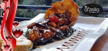 Ko�uyolu Afzelia Restaurant'ta 2 Ki�ilik Sevgililer G�n� Yeme�i!