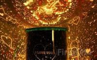 Muhte�em Ambians ve Keyifli I��k �ovu! Kalp Projeksiyonlu Gece Lambas� Star Lover 30 TL Yerine Sadece 16.90 TL!