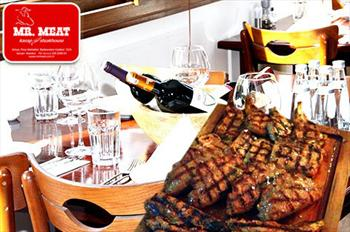 Maslak Mr. Meat Steakhouse'ta 2 Kiilik 1 Kadeh ecekli Set Men 130 TL Yerine 69 TL!