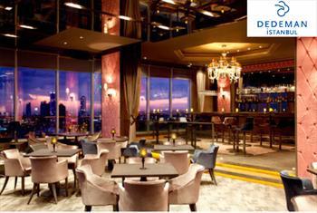 Esentepe Dedeman �stanbul Hotel'in E�siz Manzaral� Roof Restaurant'ta Canl� M�zik E�li�inde Ak�am Yeme�i Men�s� 120 TL Yerine 69 TL'den Ba�layan...