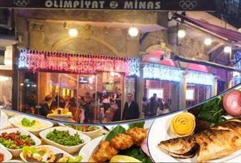 Kumkap� Olimpiyat 2 Minas Restaurant'ta fas�l ve alkoll� i�ecek e�li�inde harika bir ziyafet men�s� 90 TL yerine 55 TL'den Ba�layan Fiyatlarla!