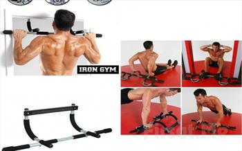 Spor Salonu Art�k Kap�n�zda! Iron Gym Kap� Barfiksi + Mekik ��nav �ekme Aleti 35 TL Yerine 22.90 TL!