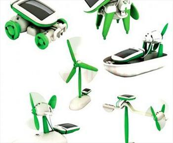 Robotunuzu Kendiniz Olu�turun..G�ne� Enerjili Robot Olu�turma Seti Sadece 14,90 TL (20.06.2012)
