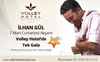 �sk�dar'�n Tarihi G�zelli�i E�li�inde Volley Hotel �stanbul'da �lhan G�l Sahnesi E�li�inde Limitsiz Yerli ��ki + �erez, Cips ve Meyve Taba�� 130 TL...