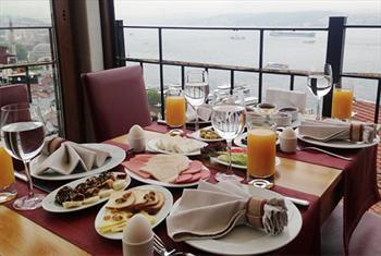 Taksim Sed Hotel Terrace Restaurant'da Muhte�em Bo�az Manzaras� E�li�inde Serpme Kahvalt� Keyfi 30 TL Yerine 19,90 TL!