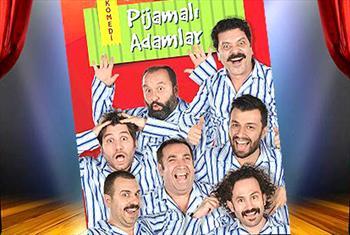 �ki Perdelik Pijamal� Adamlar Komedi Oyununa Biletler 50 TL Yerine 28 TL !