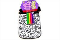 �ocuklar�n�z Kendi �antas�n� Tasarlas�n! Boyanabilir, Fermuarl� Love Desenli �anta ve 4 Farkl� Renkte Boya Kalemi 60 TL Yerine 24,90 TL!