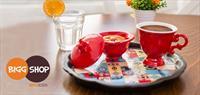 Anadolu Motifli �zel Tasarim Kahve Takimi (�cretsiz Kargo)