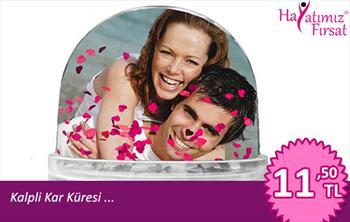 Sevdi�inizle Resminizin �zerinde Kalpcikler U�u�acak ..! Kalpli Kar K�resi Sadece 11,50 TL ..! (15.05.2012)