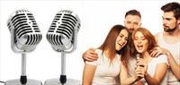 Nostalji G�r�n�ml� Vintage Karaoke Mikrofon �le E�lenceli Zamanlar!