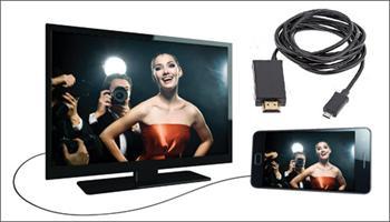 Ak�ll� telefonunuzdaki g�r�nt�leri TV'nize aktarmak i�in �ahane ��z�m! Ak�ll� Telefon - HD TV Aras� Ba�lant� Kablosu 99 TL yerine %61 grupfoni...
