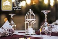 B�y�kada Secret Garden Restaurant'ta 2 Ki�ilik 1 �i�e �arap E�li�inde Romantik Ak�am Yeme�i Men�s� 299 TL Yerine 149 TL!