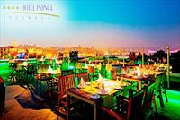 Sirkeci'de Hotel Prince �stanbul'da Teras Manzaras� ve 2 Kadeh Yerli ��ecek E�li�inde Ak�am Yeme�i Men�s� 70 TL Yerine 49 TL!