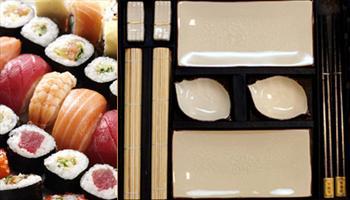 Sofralar�n�za Uzakdo�u esintisini ta��yacak, ��k ve modern tasar�m� ile Sushi Tak�m 40 TL yerine %51 grupfoni indirimiyle 19,90 TL!
